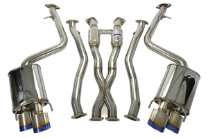 Invidia Q300 Cat-Back Exhaust Titanium Tip System ( Part Number:INV HS14LRF3TH)