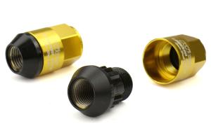 KICS Leggdura Racing Shell Type Lug Nut Set 35mm Closed-End Look 12X1.25 Gold - Universal