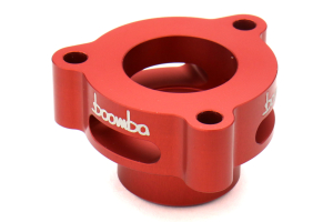 Boomba Racing Blow Off Valve Adapter Red - Ford Fiesta ST 2014+ / Mustang Ecoboost 2015+