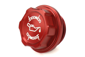 Boomba Racing Aluminum Oil Cap Red - Subaru Models (inc. 2002+ WRX / STI)