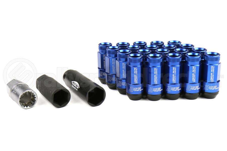 KICS Leggdura Racing Shell Type Lug Nut Set 35mm Open-End Look 12X1.25 Blue - Universal