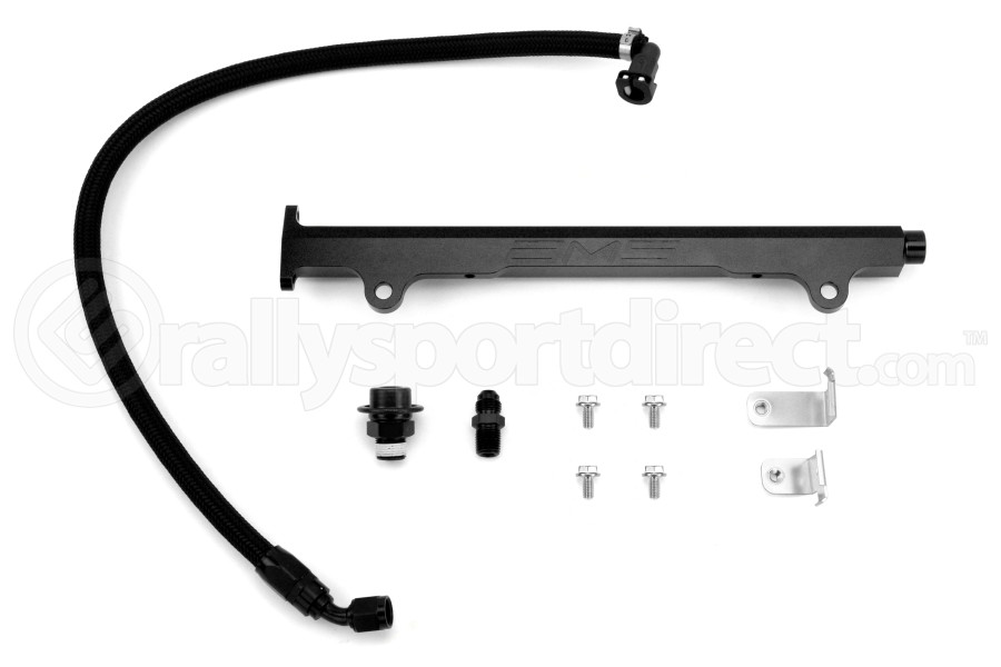 AMS Fuel Rail w/ Pulsation Damper Black (Part Number:AMS.04.07.0006-2)