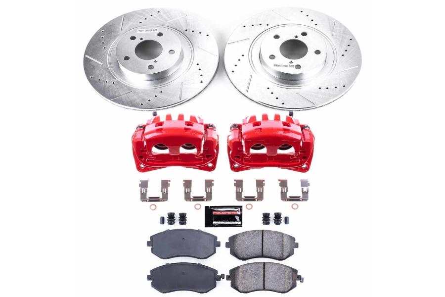 Power Stop Z23 Evolution Coated Brake Kit w/ Calipers Front - Subaru Models (inc. 2006-2012 Legacy / 2008-2010 WRX)