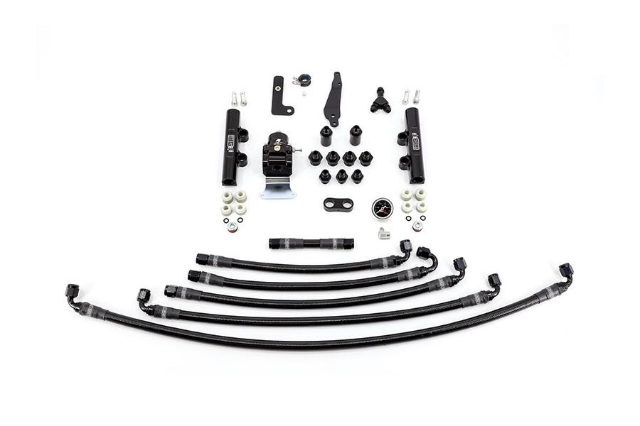 IAG PTFE Fuel System Kit w/ Lines, FPR, Fuel Rails - Subaru STI 2008 - 2020