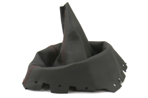AutoStyled Black Leather Shift Boot w/ Red Stitching Standard Shifter ( Part Number:ASA 1304020101)