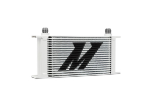 Mishimoto Universal 19 Row Oil Cooler White - Universal