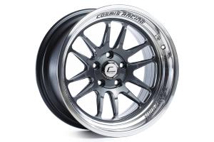 Cosmis Racing Wheels XT-206R 17x8 +30 5x100 Gunmetal w/ Machined Lip - Universal