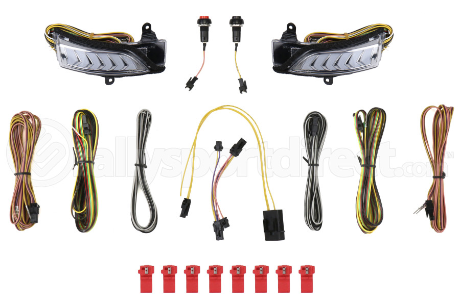 Avest Subaru Sequential Turn Signal Mirror Light Chrome Inner - Subaru Models (inc. 2015+ WRX / STI)