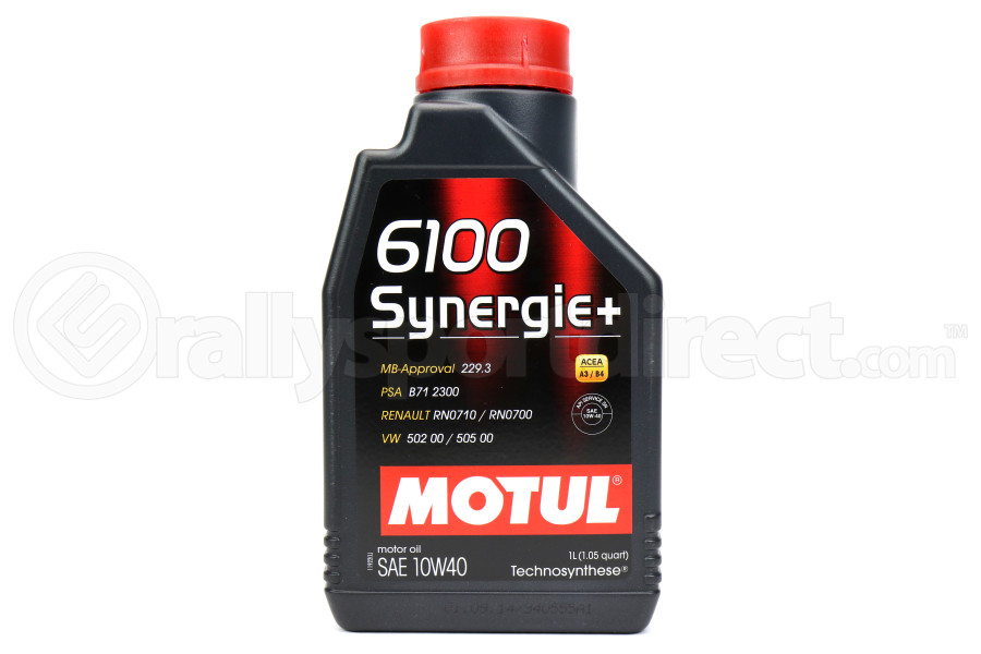 Motul 6100 Synergie+ 10W40 Oil 1L (Part Number:102781)