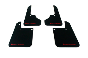 Rally Armor UR Mudflaps Black Urethane Red Logo ( Part Number:RAL MF2-UR-BLK/RD)