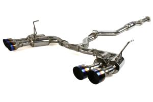 Invidia Gemini R400 Single Layer Cat Back Exhaust w/Titanium Burnt Tips (Part Number: )