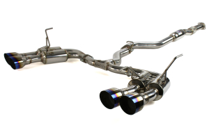 Invidia Gemini R400 Single Layer Cat Back Exhaust w/Titanium Burnt Tips ( Part Number: HS15STIGM4ST)