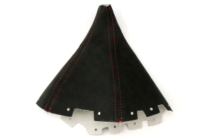 AutoStyled Black Alcantara Shift Boot w/ Red Stitching Standard Shifter ( Part Number:ASA 1304050101)