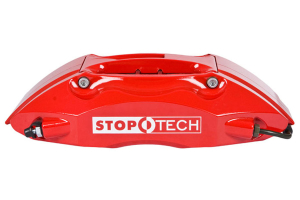 Stoptech ST-40 Big Brake Kit Front 328mm Red Slotted Rotors ( Part Number:STP 83.836.4300.71)
