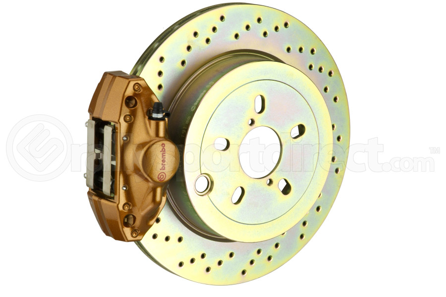 Brembo GT Systems 2 Piston Rear Gold Drilled Rotors (Part Number:2E4.5003A4)