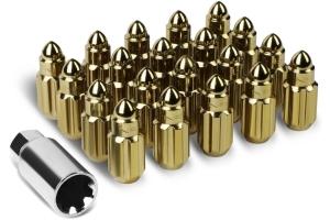 NRG Innovations Steel Bullet Shape Lug Nut Set M12x1.5mm (Multiple Color Options) - Universal