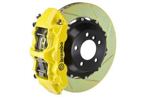Brembo GT Systems Monobloc 6 Piston Front Big Brake Kit Yellow Slotted Rotors - Honda Civic Type R 2017+