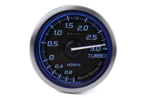 Defi DF Blue Racer N2 Boost Gauge Metric 52mm 3 Bar - Universal