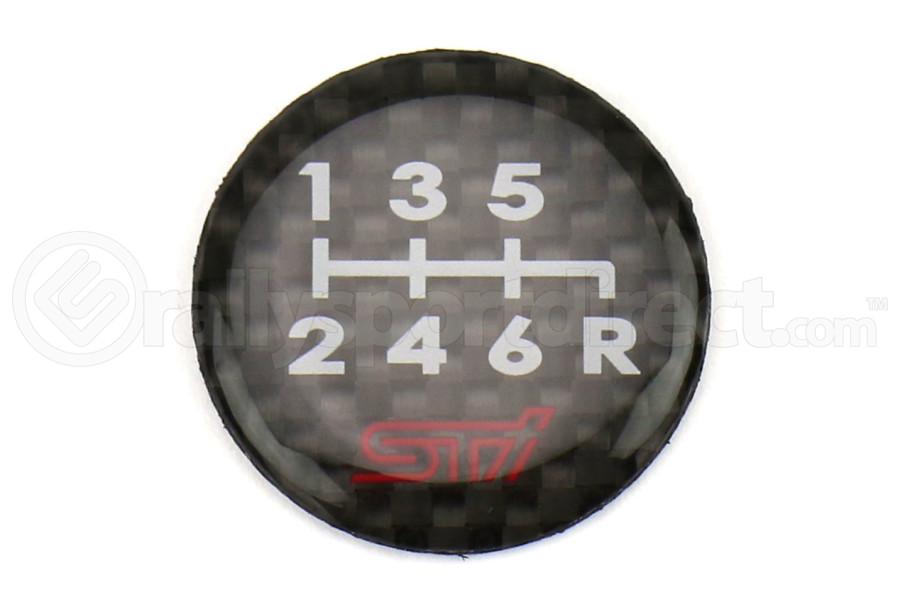 Subaru STI JDM 6 Speed Shift Logo (Part Number:STSG13100830)