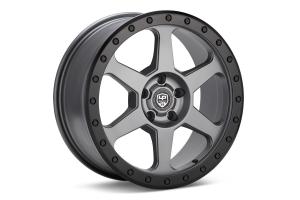 LP Aventure LP3 Wheel 18x8 +38 5x100 Grey w/ Black Ring - Universal