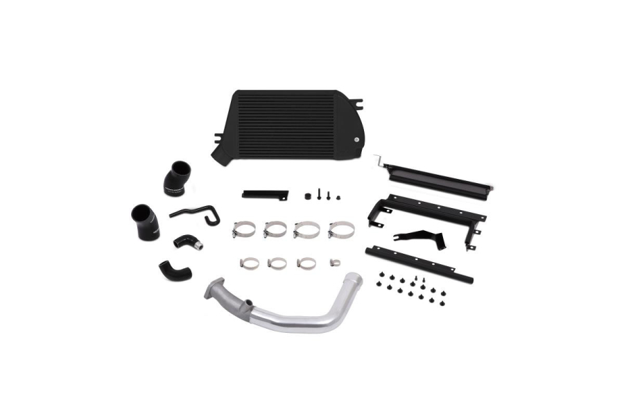 Mishimoto Top Mount Intercooler Kit Black w/ Polished Charge Pipe - Subaru WRX 2015+