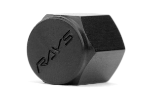 Volk Racing Rays Valve Stem Caps Black ( Part Number:VOL WVALBK2)