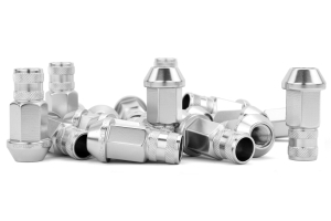 Gorilla Aluminum Open End Silver Lug Nuts 12x1.25 (Part Number: )