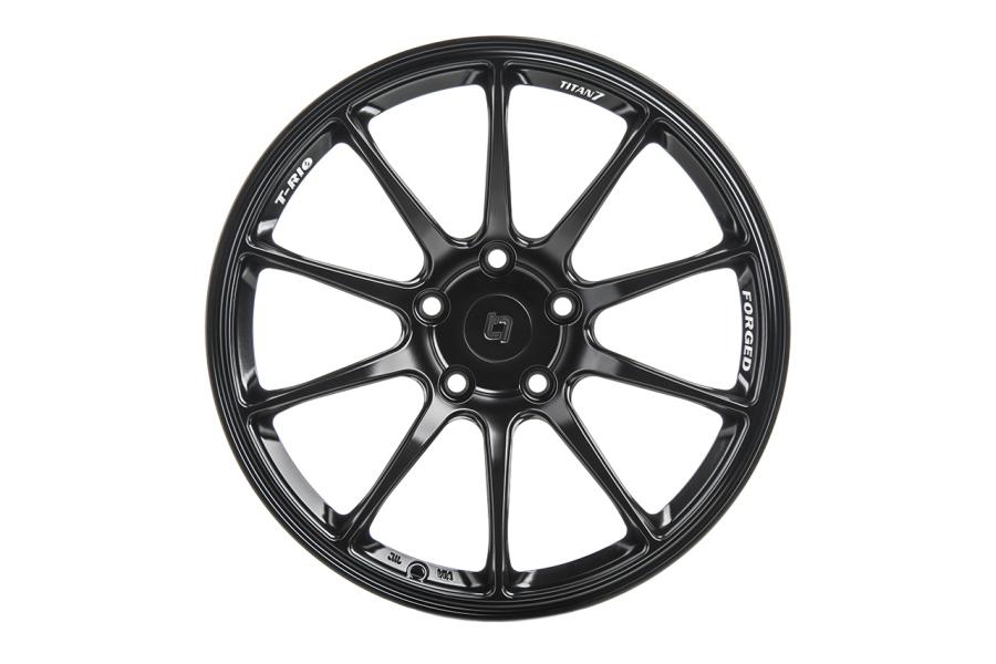 Titan 7 T-R10 18x9.5 +22 5x120 Machine Black - Universal