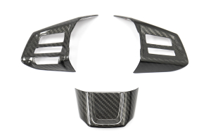 OLM S-line Carbon Fiber Steering Wheel Covers - Subaru WRX / STI 2015