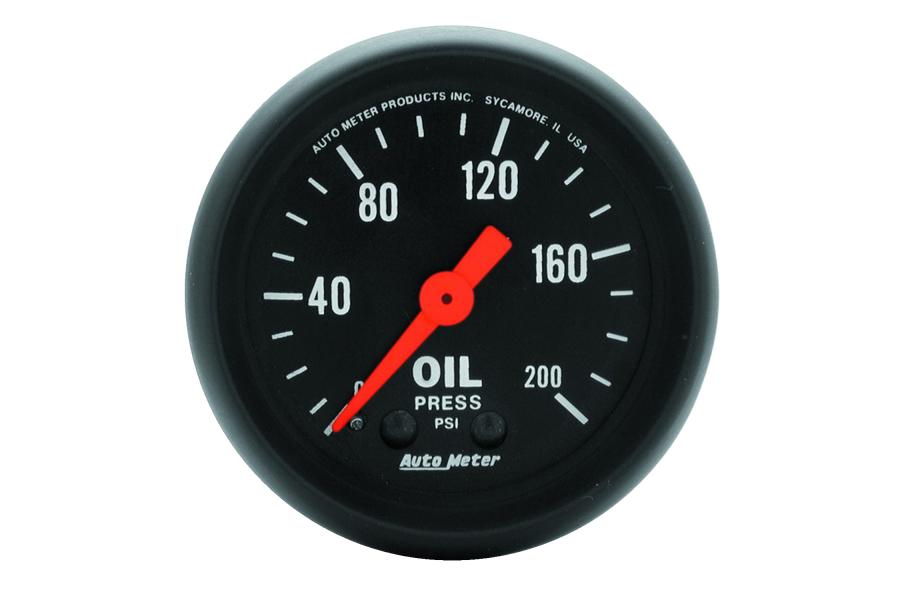 Autometer Z-Series Oil Pressure Gauge Mechanical 52mm - Universal