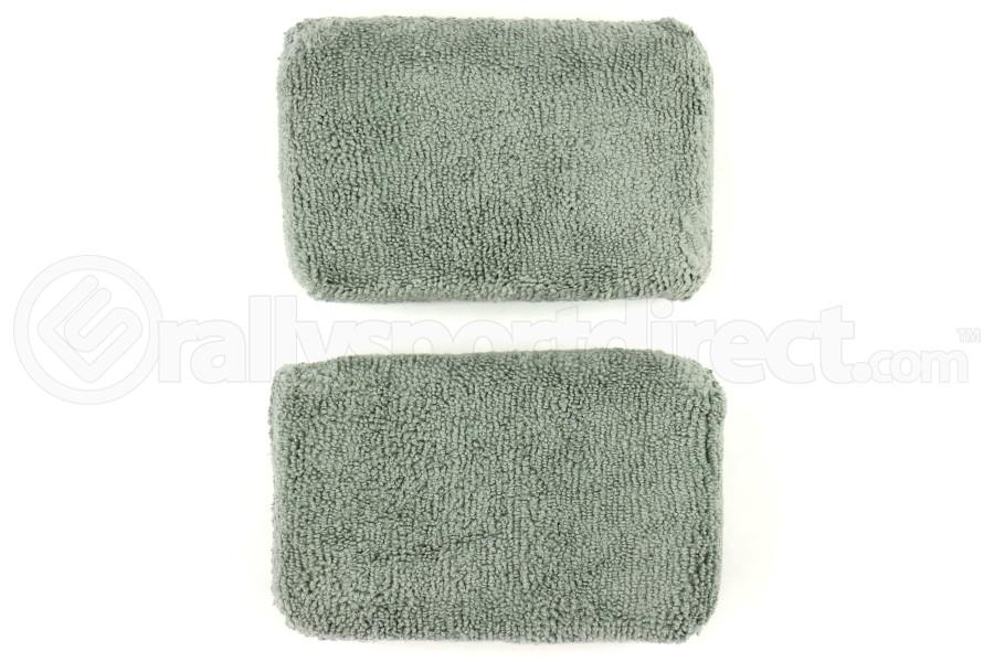 Chemical Guys Microfiber Applicator Pads Premium Grade Grey (2 Pack) - Universal