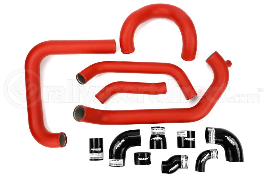 PERRIN Boost Tube Kit Red Piping Black Couplers - Subaru STI 2015+