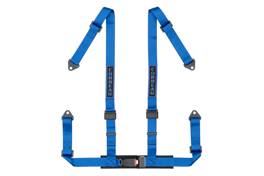 Corbeau 2 Inch 4 Point Bolt In Harness Blue - Universal