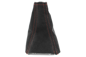 JPM Coachworks Shift Boot Black Alcantara Red Stitching ( Part Number: 1025A40-R)
