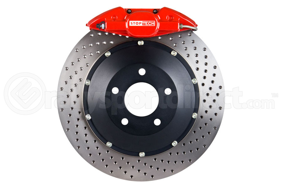 Stoptech ST-22 Big Brake Kit Rear 345mm Red Drilled Rotors (Part Number:83.842.002G.72)