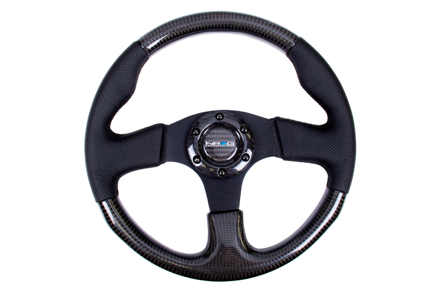 NRG Carbon Fiber Steering Wheel 315mm Perforated Black - Universal