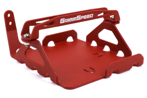 GrimmSpeed Lightweight Battery Mount Red - Subaru WRX / STI 2008+
