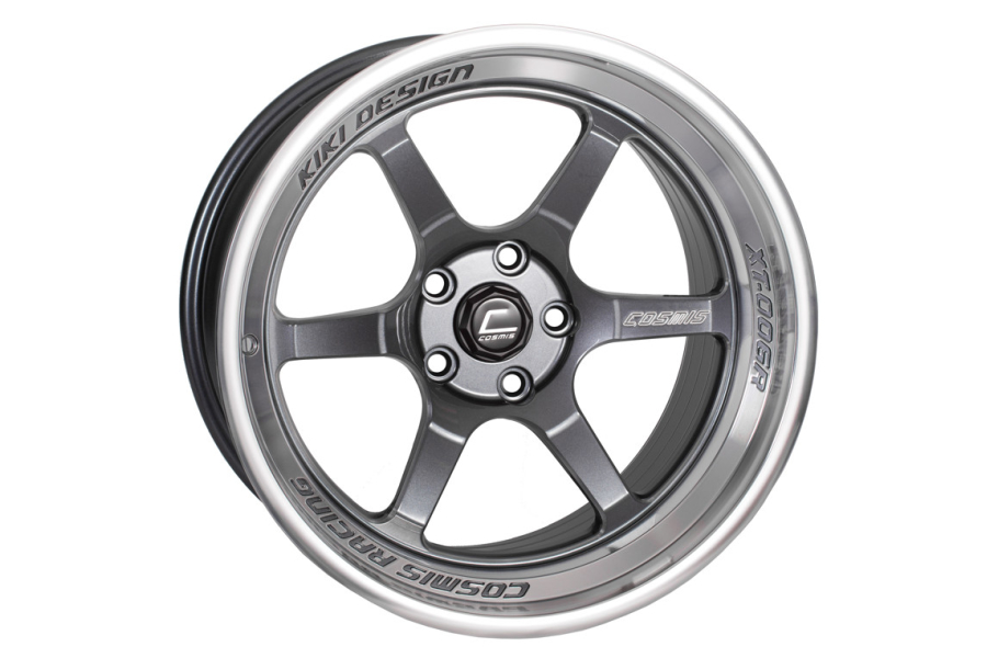 Cosmis Racing Wheels XT-006R 18x9.5 +10 5x114.3 Gunmetal w/ Machined Lip - Universal