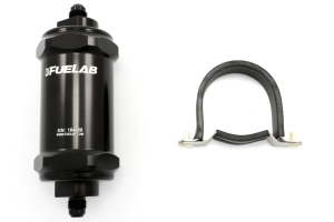 Fuelab Black- In-Line Fuel Filter Standard Length (Part Number: )
