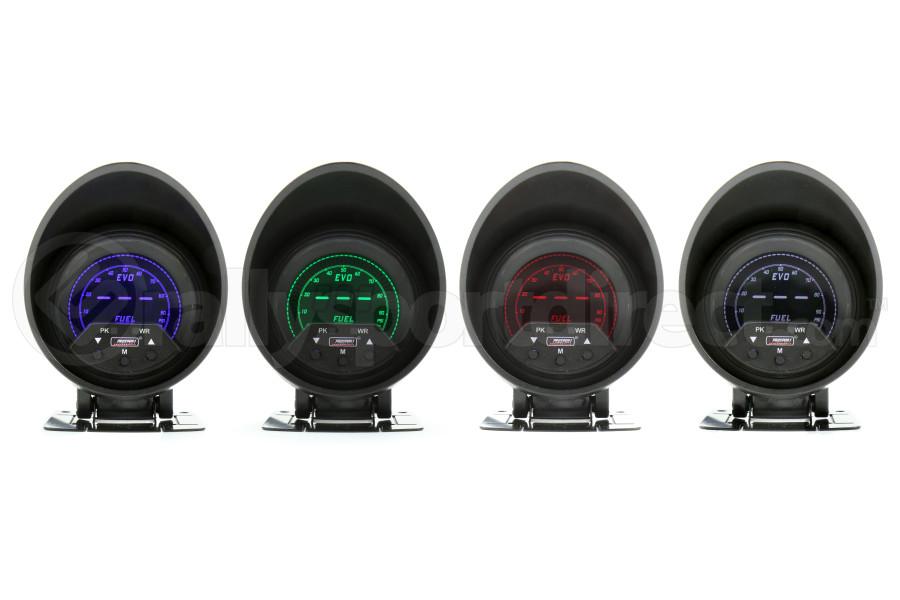 ProSport Premium EVO Fuel Pressure w/Sender Multi Color (Part Number:238EVOFP-PK.PSI)
