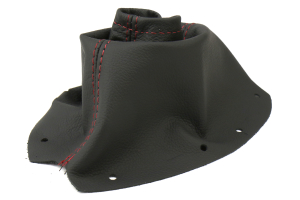 AutoStyled Black Leather Shift Boot w/ Red Stitching Standard Shifter ( Part Number: 1301020101)