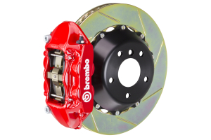 Brembo GT-R Systems 4 Piston Rear Big Brake Kit Red Slotted Rotors - Ford Mustang EcoBoost 2015+