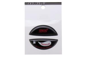 STI Premium Fuel Cap Ornament Black  - Subaru Models (inc. 2015+ WRX / STI / 2014+ Forester)