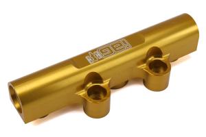 IAG V3 Top Feed Fuel Rails Gold - Subaru Models (inc. 2002-2014 WRX / 2007+ STI)