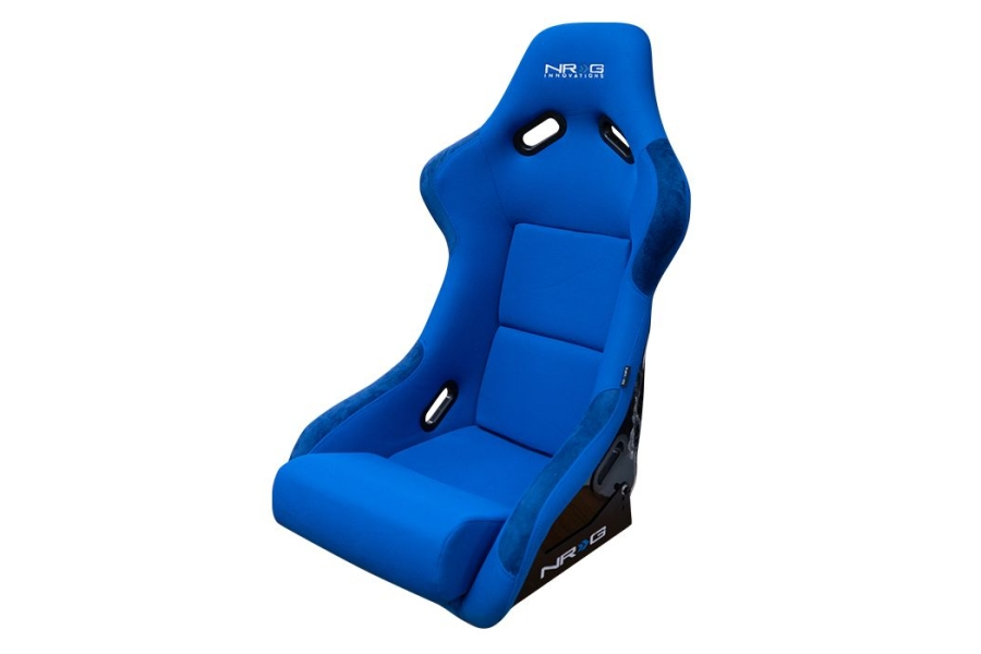 NRG Innovations FRP Large Clotch Bucket Seat Blue - Universal