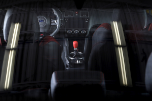 GrimmSpeed Shift Knob Stainless Steel Red - Subaru 6MT Models (inc. 2004+ STI / 2013+ BRZ)