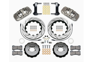 Wilwood AERO6 14in Front Kit Drilled / Slotted Nickel - Subaru Models (inc. 2002-2014 WRX / 2004+ STI)