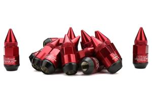 KICS Leggdura Racing Dangan Shell Type Lug Nut and Lock Set M12X1.25 Red (Part Number: )