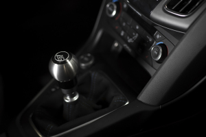 AutoStyled Shift Knob Black w/ Stainless Steel Center - Ford Focus RS 2016+ / Ford Focus ST 2013+ / Ford Fiesta ST 2014+