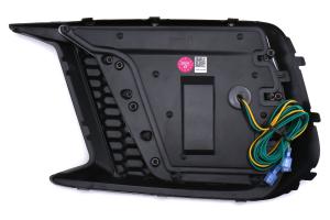 OLM Smoked Tri Bar Fog Light Bezel - Subaru WRX / STI 2018 - 2020